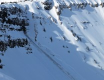 Natural Slab Avalanche off of Scarp Ridge