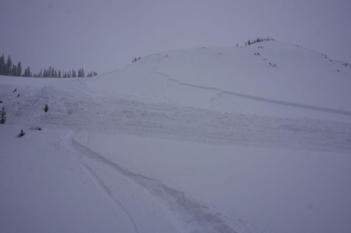 Skier triggered avalanche in the Anthracite Range on