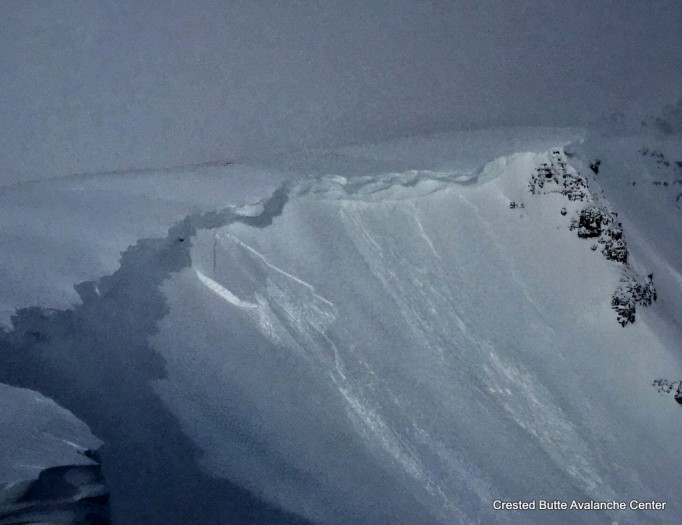 1/16. Larger crown getting filled in, smaller crown above it. NE aspect above treeline.
