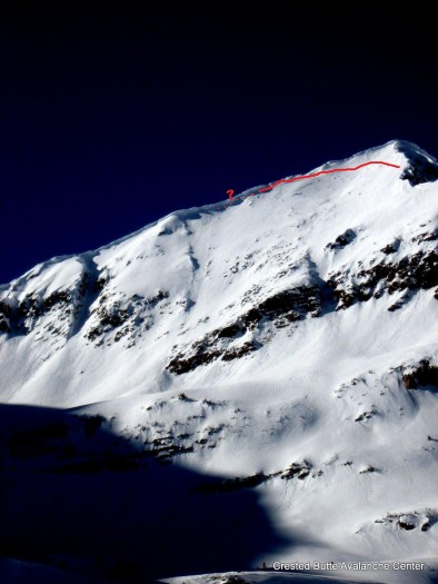 Old crown likely from 1/20-1/21 cycle. SE aspect of Afley Peak. This one ran during Christmas cycle as well.