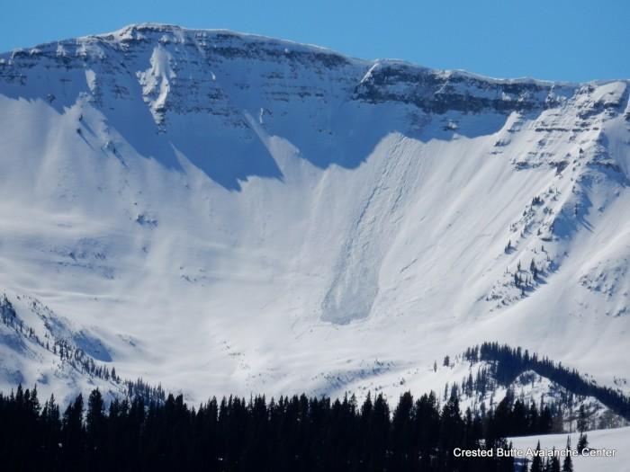 2/24. Recent cornice fall/ persistent slab off of Scarp Ridge