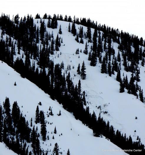 3/28. Skier triggered persistent slab in Climax Chutes. NE aspect NTL