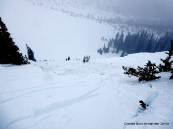 Remotely triggered persistent slab avalanche.  N aspect of Coon Basin.
