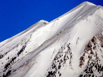 Gothic Peak.  SSW aspect ATL