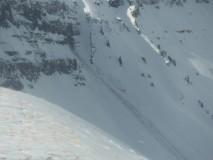 Natural slab avalanche off of Scarp Ridge
